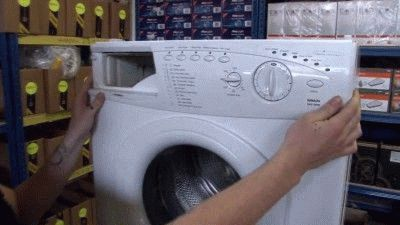 Снятие панели стиральной машины