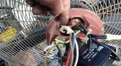 Разборка двигателя вентилятора