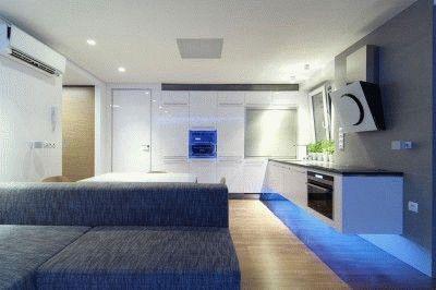 Разноплановое освещение комнаты