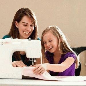 Использование швейной машины