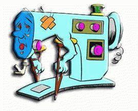Поломанная швейная машина