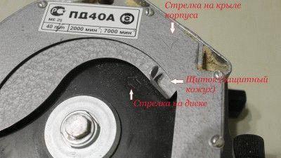 Стрелки на диске