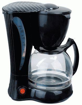 Чёрная кофеварка